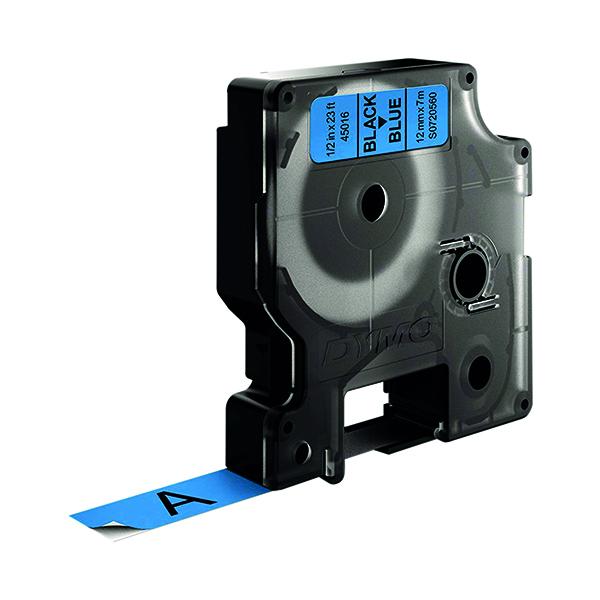Dymo Black on Blue 4500 D1 Standard Tape 12mm x 7m S0720560