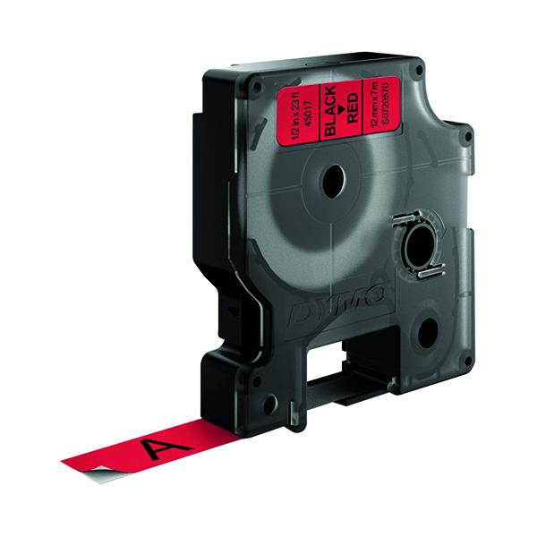 Dymo Black on Red 4500 D1 Standard Tape 12mmx7m S0720570
