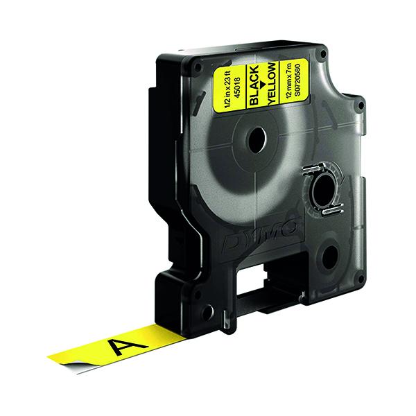Dymo Black on Yellow 4500 D1 Standard Tape 12mm x 7m S0720580