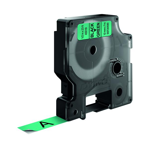 Dymo Black on Green 4500 D1 Standard Tape 12mm x 7m S0720590