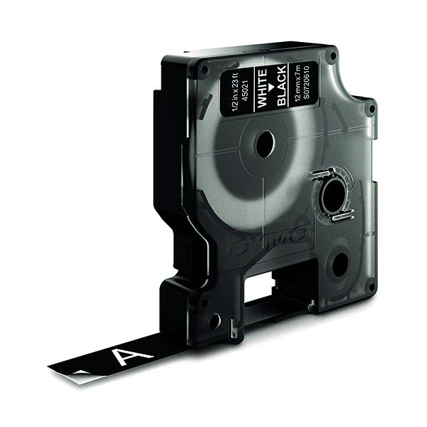 Dymo White on Black 1000/5000 D1 Standard Tape 12mm x 7m S0720610