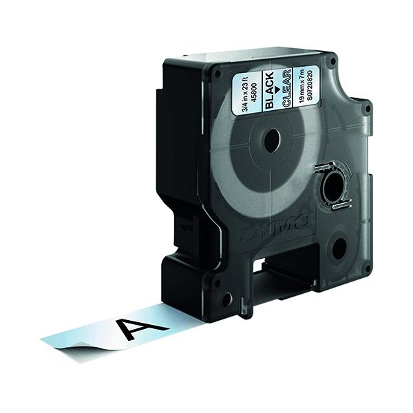 Dymo Black on Clear 2000/5500 Standard Tape 19mmx7m S0720820