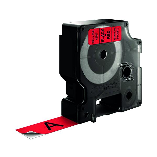 Dymo Black on Red 2000/5500 Standard Tape 19mmx7m S0720870