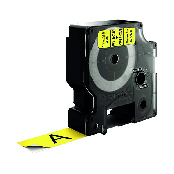 Dymo Black on Yellow 2000/5500 Standard Tape 19mm x 7m S0720880