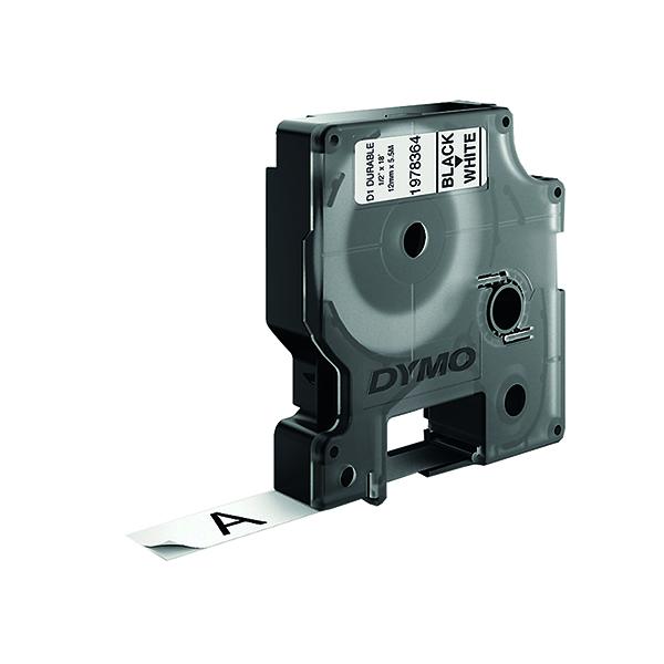 Dymo D1 Black on White 12mmx3m Labelling Tape 1978364