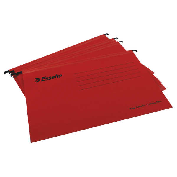 Esselte Classic A4 Red Suspension File (25 Pack) 90316
