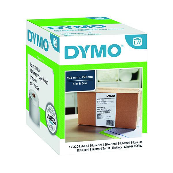 Dymo LabelWriter White XL Shipping Label 104x159mm (220 Pack) S0904980