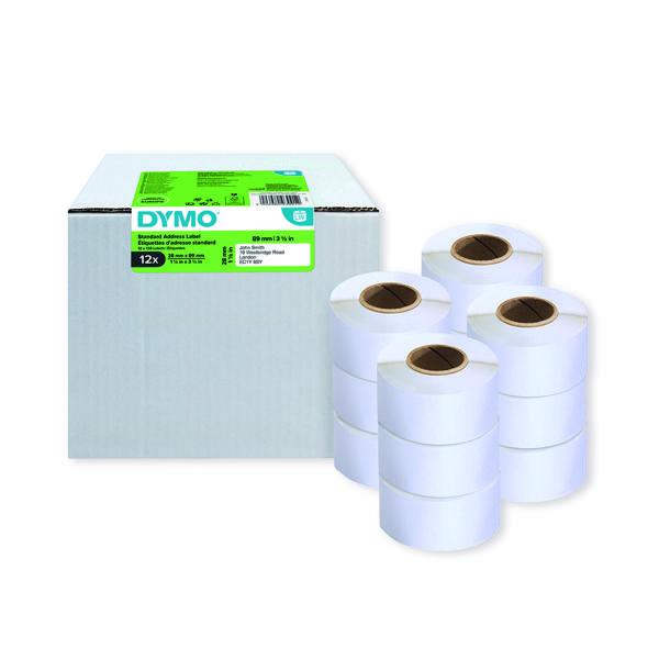Dymo LabelWriter Standard Address Labels 28mm x 89mm (12 Pack) 2093091