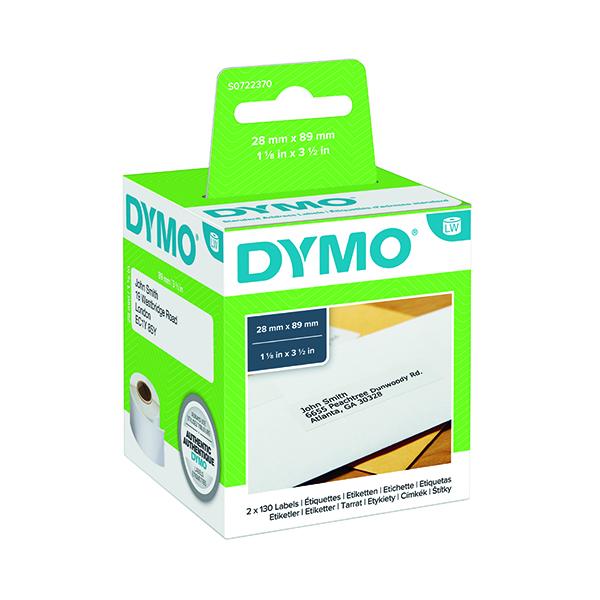 Dymo White Standard Address Label 28x89mm (260 Pack) S0722370