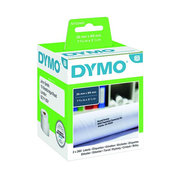 Dymo White Large Address Label 36x89mm (520 Pack) S0722400