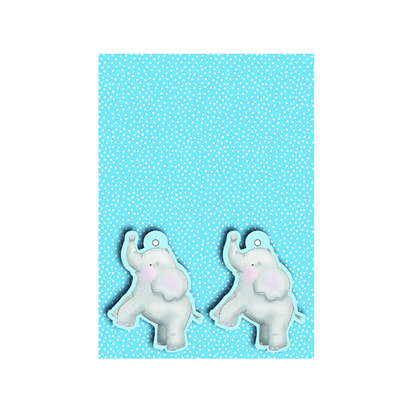 Blue Baby Elephant Gift Wrap and Tags (12 Pack) 27228-2S2T