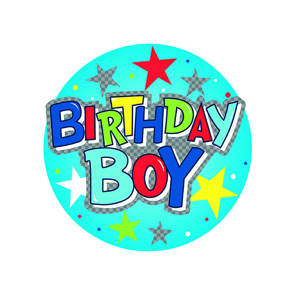 Birthday Boy Giant Badge (6 Pack) 24780-BB