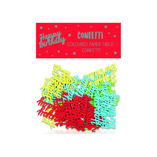 Happy Birthday Paper Table Confetti (12 Pack) 24405-HB