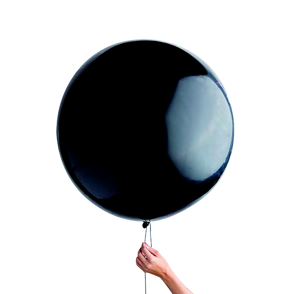 Black Gender Reveal Balloon (6 Pack) 23034-GR