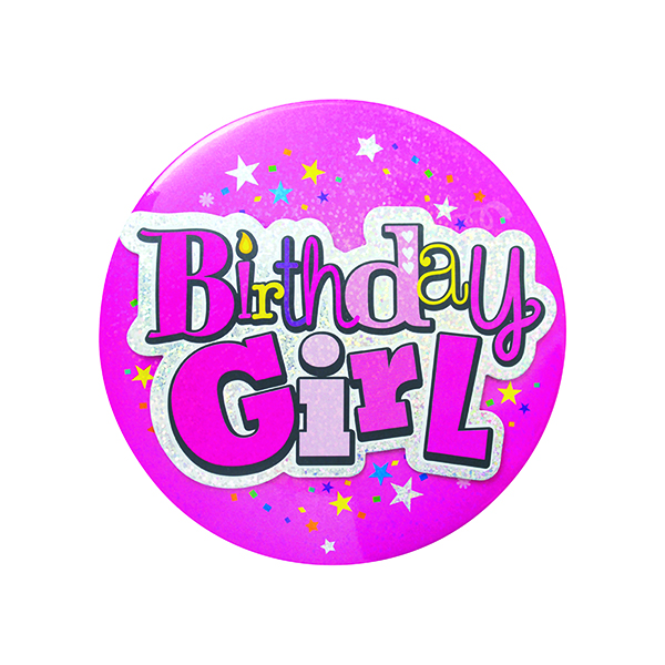 Birthday Girl Giant Badge (6 Pack) 20880-BG-A