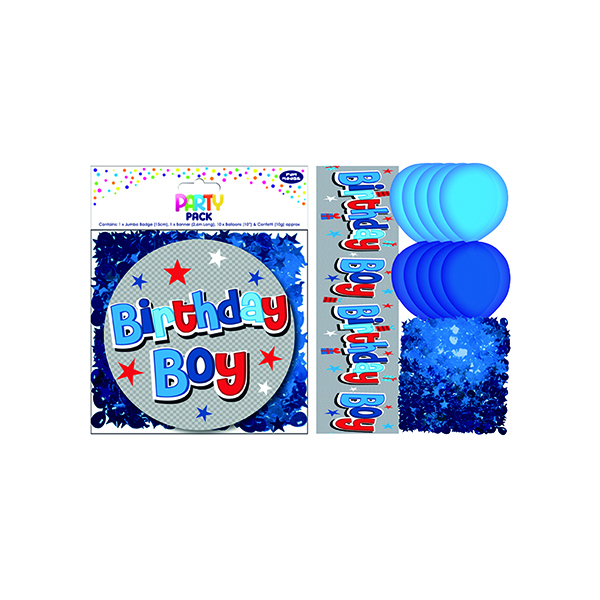 Birthday Boy Party Pack Blue (6 Pack) 13707-PP