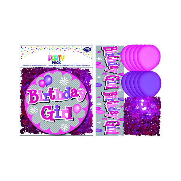 Birthday Girl Party Pack Pink (6 Pack) 13704-PP
