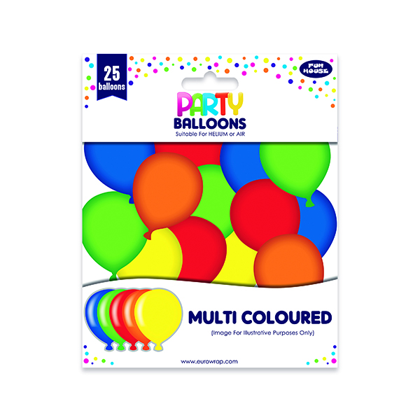 Party Balloons Multicoloured (6 Pack) 12924-M-1