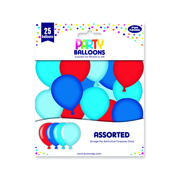 Party Balloons Blue/Red (6 Pack) 12924-B-1