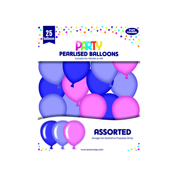 Party Balloons Pink/Purple (6 Pack) 12924-P-1