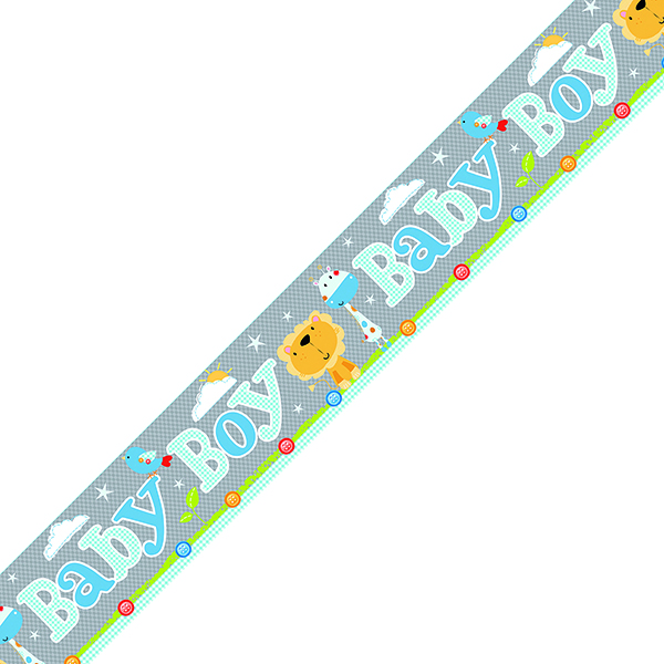 Baby Boy Banner Blue/Grey (6 Pack) 6837-BBB-1