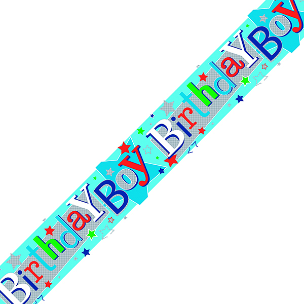 Birthday Boy Banner Blue (6 Pack) 6837-HBB-3