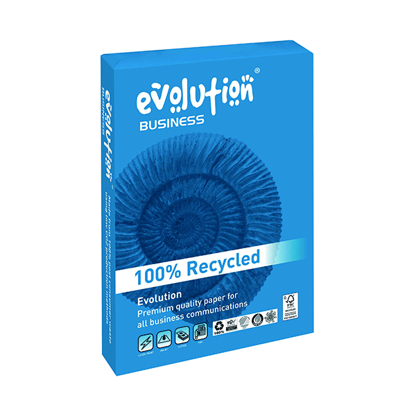 Evolution White A4 Business Recycled Paper 90gsm (500 Pack) EVBU2190
