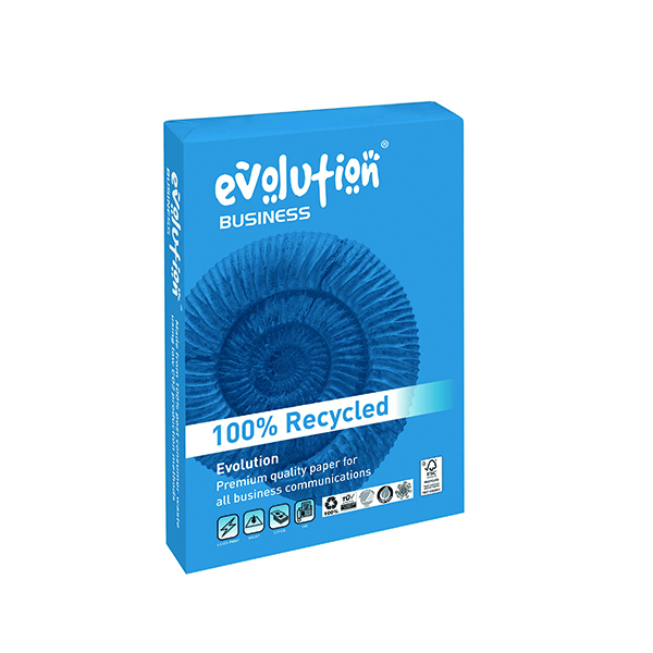 Evolution White A4 100gsm Business Recycled Paper Ream 500 EVBU21100