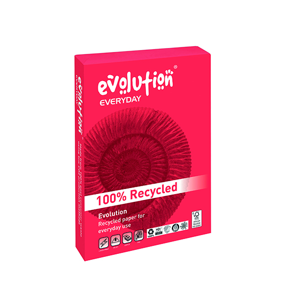 Evolution White Everyday A4 Recycled Paper 75gsm (2500 Pack) EVE2175