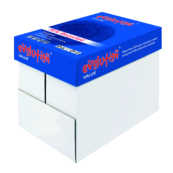 Evolution White Value A4 Recycled Paper 80gsm (2500 Pack) EVV2180
