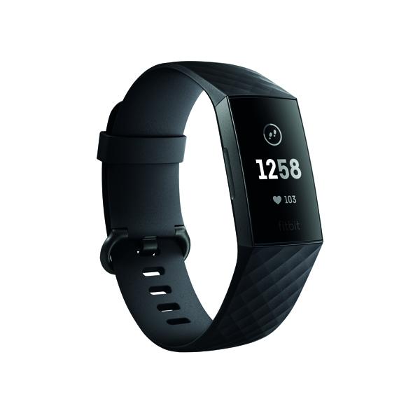 Fitbit Charge 3 Black/Graphite Aluminium FB409GMBK-EU