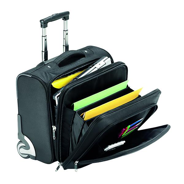 Falcon Mobile Laptop Business Trolley Case Black 2567T