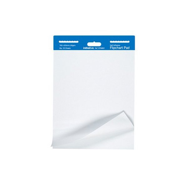 Initiative Self-Adhesive Extra Sticky Flipchart Pad A1 30 Sheets 80gsm (2 Pack)