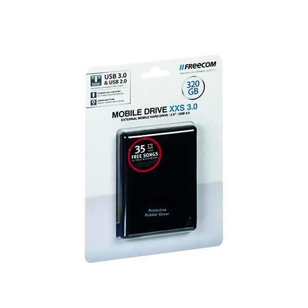Freecom Mobile XXS Drive 2TB USB External Hard Disk Drive Black 56334