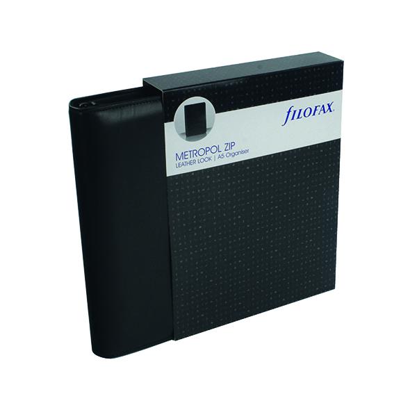 Filofax Metropol Organiser Zipped A5 Black 026979