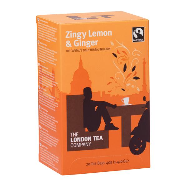 London Tea Zingy Lemon and Ginger Tea (20 Pack) FLT0003