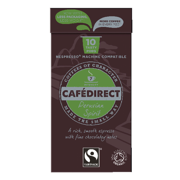Cafedirect Nespresso Compatible Pods Peruvian Spirit (100 Pack) FCR0034