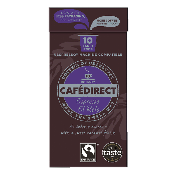 Cafedirect Nespresso Compatible Pods El Reto (100 Pack) FCR0037