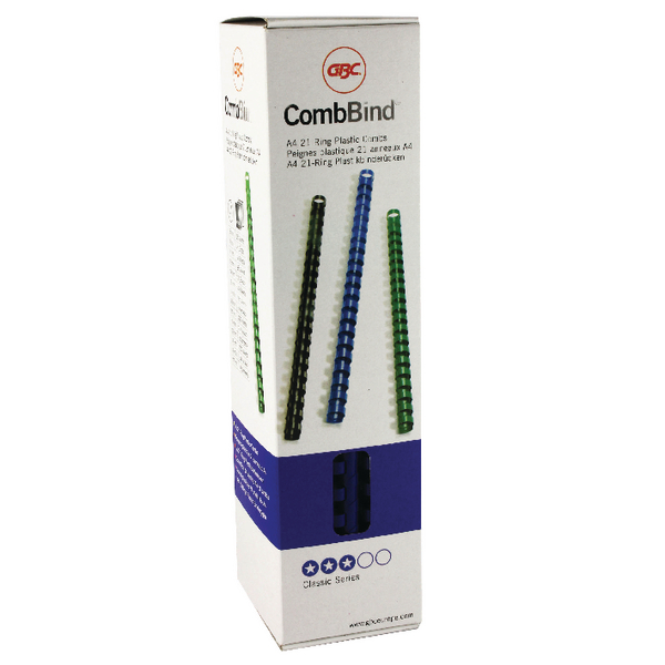 GBC Blue CombBind Binding Combs 10mm (Pack of 100) 4028235
