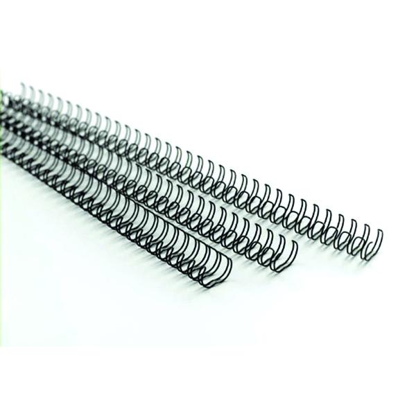 GBC MultiBind 21 Loop 70 Sheets 8mm Black Binding Wires (100 Pack) IB165122