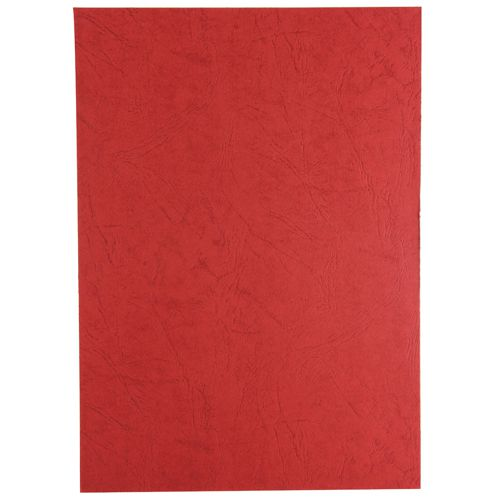 GBC LeatherGrain Binding Covers 250gsm A4 Red (Pack of 100) 91484U