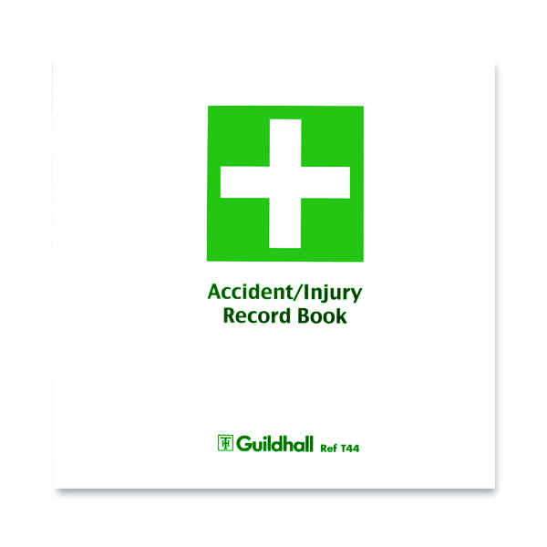 Guildhall Accident and Injury Book Compliant with Data Protection Act (5 Pack) T44
