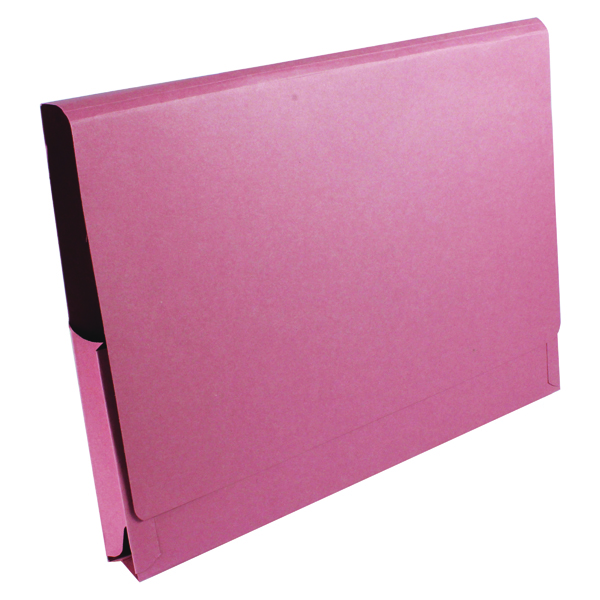 Guildhall Brief Size Pocket Wallet 14x10in Pink (50 Pack) PW3-PNK