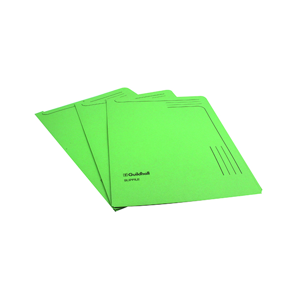 Exacompta Guildhall Slipfile Manilla 230gsm Green (50 Pack) 4603Z