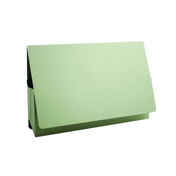 Exacompta Guildhall Probate Document Wallet 315gsm Green (25 Pack) PRW2-GRN