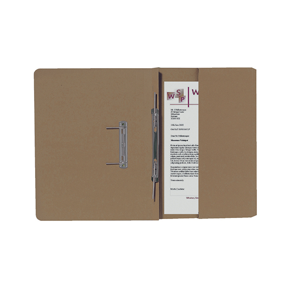 Exacompta Guildhall Right Hand Transfer Spiral Pocket File 315gsm Foolscap Buff (25 Pack) 211/9061Z