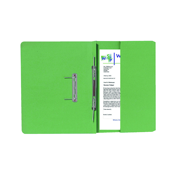 Exacompta Guildhall Right Hand Transfer Spiral Pocket File 315gsm Foolscap Green (25 Pack) 211/90662Z