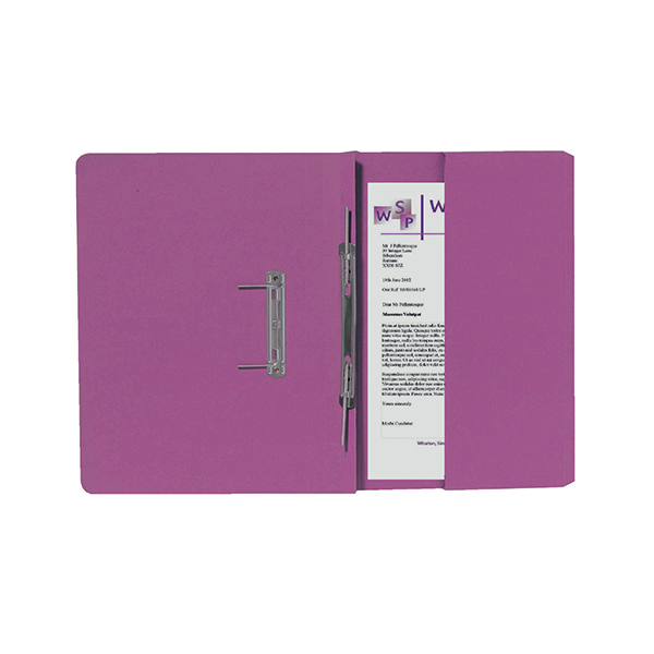 Exacompta Guildhall Right Hand Transfer Spiral Pocket File 315gsm Foolscap Pink (25 Pack) 211/9064Z