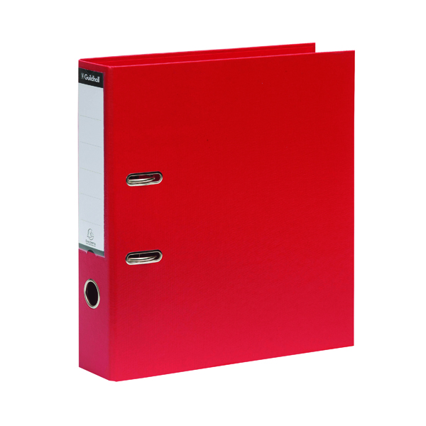 Guildhall 70mm Red A4 Lever Arch File 222/2002Z