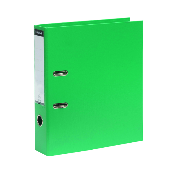 Guildhall 70mm Green A4 Lever Arch File 222/2003Z